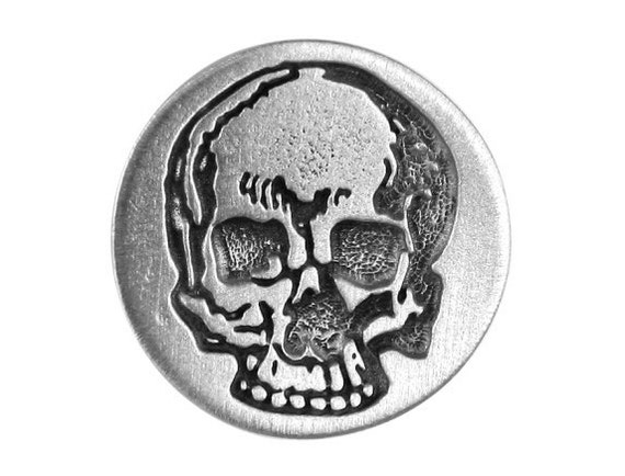 2 Yorick's Skull 1 inch ( 25 mm ) Pewter Metal Buttons
