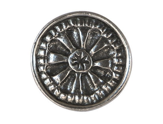 Danforth Mystical Mandala 13/16 inch ( 20 mm ) Pewter Shank Button