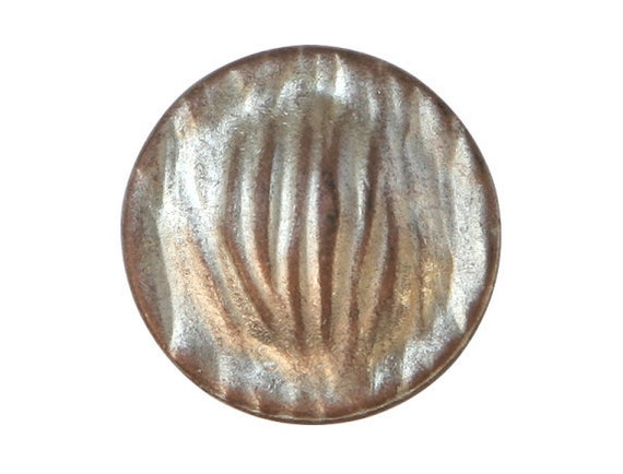 2 Riverside Grasses 7/8 inch ( 22 mm ) Metal Buttons Silver Copper Color