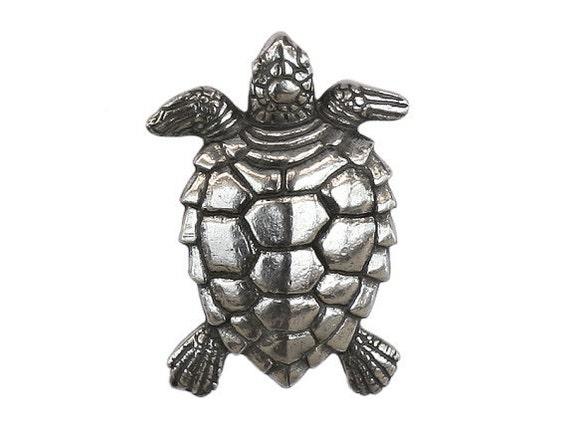 Danforth Turtle 1 inch ( 25 mm ) Pewter Metal Button