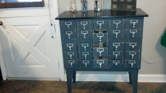 ORDER FOR JEFF...........Vintage Industrial Library Card Catalog File