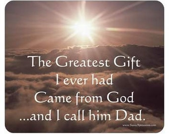 Dad - God's Greatest Gift - Mousepad