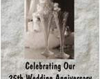 PERSONALIZED Celebrating our 25th Wedding Anniversary Poster