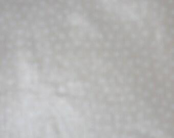 "Tan & White Chintz, Waverly ""Ivy Lane"", Polka Dot Fabric"