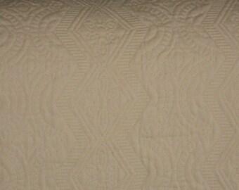 Roth & Tompkin Off White Mattelase Fabric