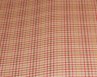 Waverly Carlston Plaid, in Color Primrose, Red, Yellow, Light Brown