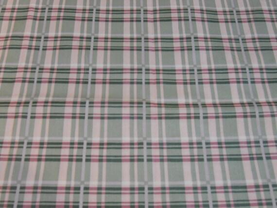 "Polished Cotton, ""Harmony"" Plaid Fabric, Vintage 1990's"