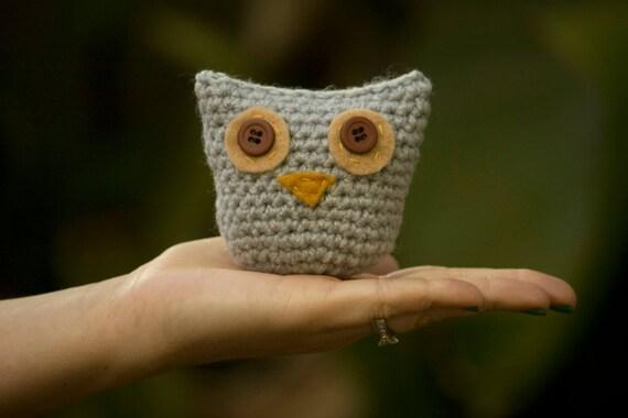 Owl Amigurumi, Woodland Animal Nursery, Crochet Toy Decor