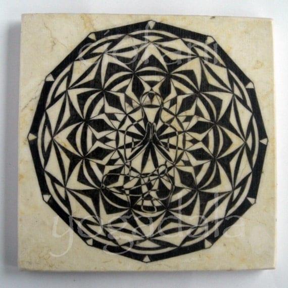 toestand (padangustasana) 6 x 6 decorative wall tile