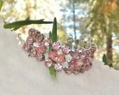 PENDING Bridal Pink Weiss Rhinestone Bracelet, Lovely... Summer Perfect, Original Vintage Condition