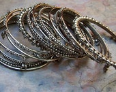 Vintage Bohemian Boho Hippie Beach Bangle Bracelets (Set of 16)
