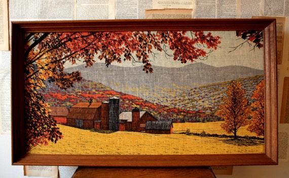 Vintage R. Batchelder Fall Foliage Farmhouse Print