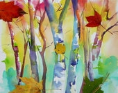 """Vermont """"Falling Leaves"""" Print"""