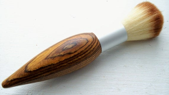 Hand-turned mexican rosewood cosmetic brush