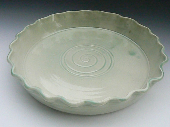 ON SALE Light green Pie Plate Oven Safe