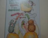 Cross stitch kit - When Life Gives You Lemons, Make Lemonade