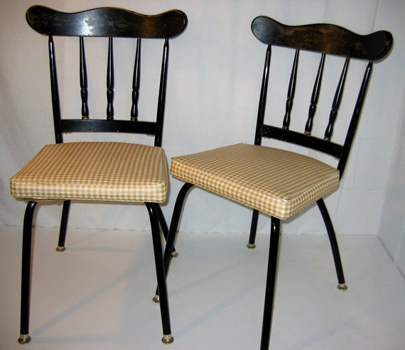 1950s Howell Modern Metal Furniture Dining Chairs With Bent
