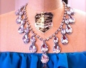 PRINCESS Tear Drop Necklace - Great Sparkly Statement Piece to add to your wardrobe - Short
