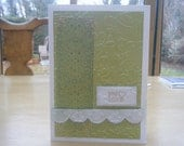 Green and White 'With Love' Card