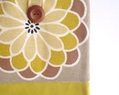 SALE - iPad case, iPad sleeve, iPad cover, Tablet sleeve Padded. Mustard yellow brown beige