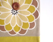 SALE - iPad case, iPad sleeve, iPad cover, Tablet sleeve Padded. Mustard yellow brown beige
