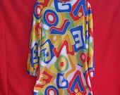 Mini Dress or Tunic: Vtg 60s pyschedelic LOVE print Mini Dress or Tunic
