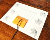 Fall Leaves Guest Book Pages Custom