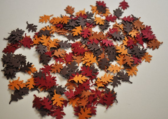 Fall Leaves Confetti Punches Paper Embelishments 200