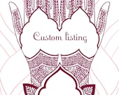 Custom listing for Julie - Mendhi return address labels