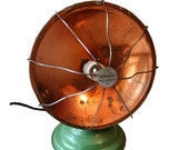 Repurposed  Shabby Industrial Copper Vintage Lamp