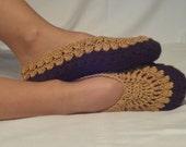 Turkish Folkloric Brown-Milky Brown Slippers Socks