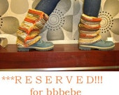RESERVED for bbbebe: Women Handmade Crochet Multicolor -Orange, Olive Green, Mustard, Cream- Zipper Leg Warmers