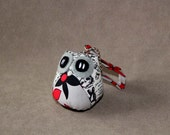 Mr Grey - the Little Cute Owl Doll with Bag: plush, keychain, children, kid, baby, boy, girl, kid, orange, gray, panda, art