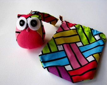 Pinku - the Little Cute Owl Doll with Bag: plush, keychain, children, kid, baby, boy, girl, kid, pink, blue, green, eco, iammie