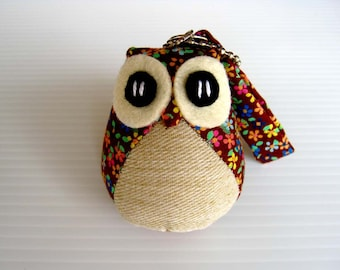Spring - the Little Cute Owl Doll with Bag: plush, keychain, children, kid, baby, boy, girl, kid, soft, flower, garden, easter, bag charm
