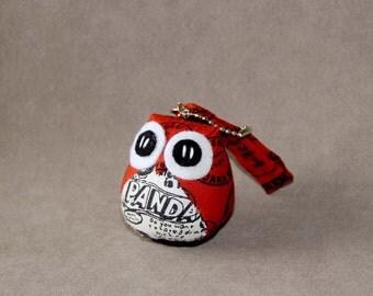 Pando - the Little Cute Owl Doll with Bag: plush, keychain, children, kid, baby, boy, girl, kid, white, orange, stamp