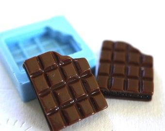 Small Bitten Chocolate Bar 17mm  Bakery Flexible Push Mold 253s BEST QUALITY