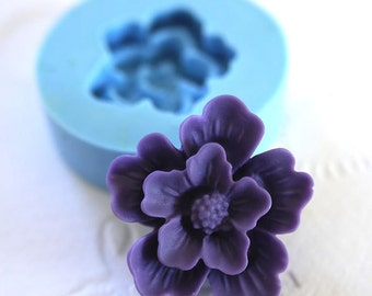Flower Cabochon 21mm Bakery Silicone Flexible Mold 103sf BEST QUALITY
