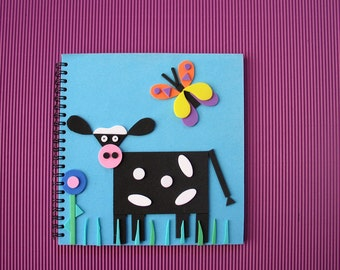 Spiral Notebook 18x18cm/7x7inch Cow image