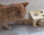 The Cat Forager Wood Cat Toy Box