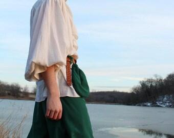 Poly/cotton Hunter Green Pirate / Gypsy / LARP wrap pants