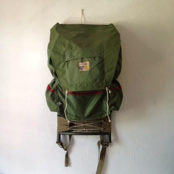 Green Vintage External Frame Backpack by Morsan