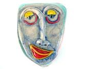 Ceramic Head, Sculpture of head, Head of porcelain (Wall Art), Wall art sculpture of head, Head