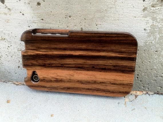 Macassar Ebony Wood Iphone 4 & 4s Case