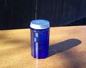 Vintage Cobalt Jar with Lid