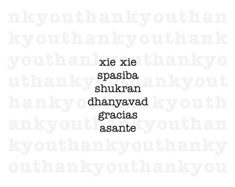 Multi-Lingual Thank You Card