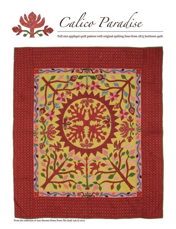 Calico Paradise Applique Quilt Pattern
