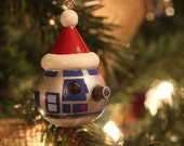 Hand-painted R2D2 Christmas Ornament