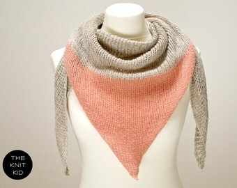 INSTANT SHIPPING! triangle scarf merino angora mohair birch dusty rose theknitkid the knit kid wool scarf knitted scarf