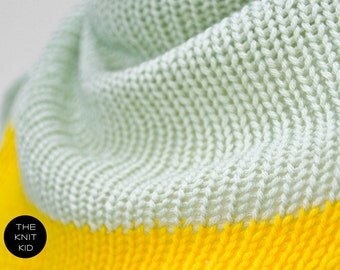 INSTANT SHIPPING! pastel green yellow triangle scarf cashmere merino theknitkid